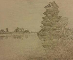 Japanese pond scenery