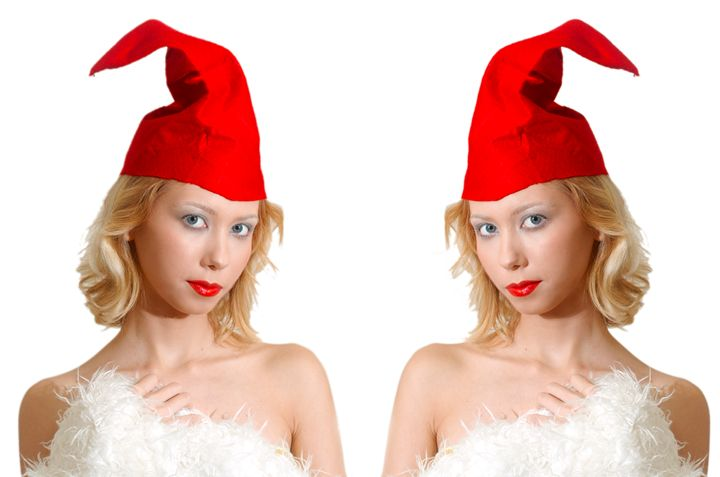 young model in red and white - PhotoStock-Israel