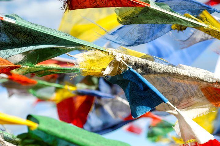 Buddhist prayer flags - PhotoStock-Israel