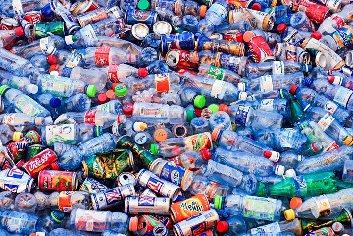 Plastic bottle recycling bin - PhotoStock-Israel