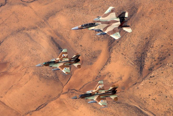 2 F-16 and one F-15 IAF fighter jets - PhotoStock-Israel