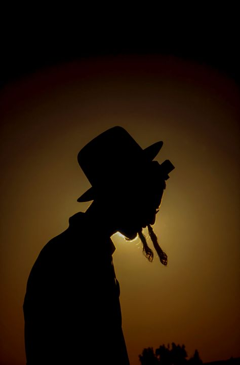 silhouette of an ultra religious Jew - PhotoStock-Israel