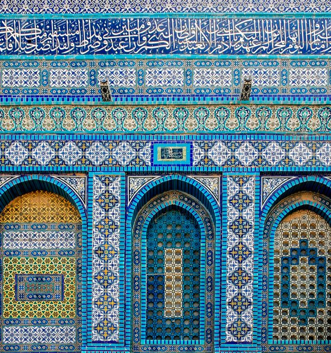 wall of the dome of the rock, - PhotoStock-Israel