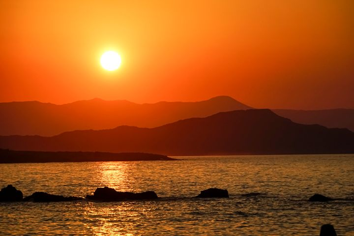 Sunset over Crete, Greece - PhotoStock-Israel