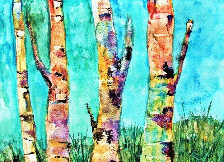 Birched Rainbows - Ayasha Loya Fine Arts