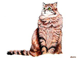 Cat in Gouache