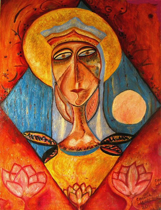 Our Lady of the World - HEART DREAMING PAINTINGS