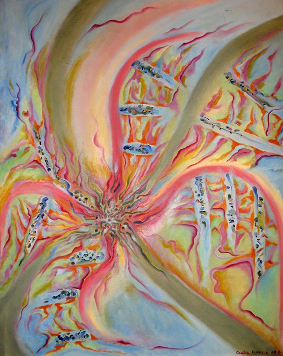 Life DNA/ADN de vida - HEART DREAMING PAINTINGS
