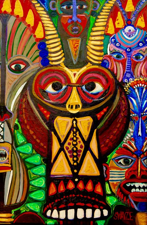 African Faces - SwayzeArt