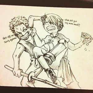 Kid Zoro and Kid Sanji