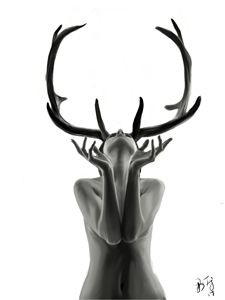 Woman With Antlers