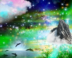 Ocean paradise space combined