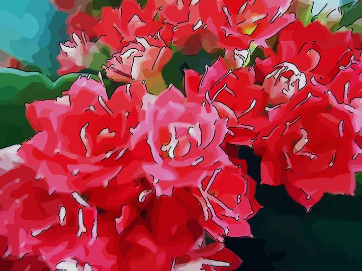 Red flower of kalanchoe - CLA