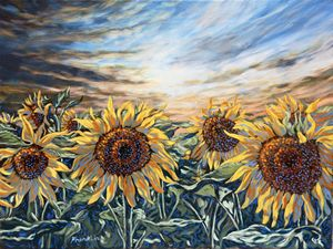 St. Christophe sunflowers 4 - Dewey Franklin