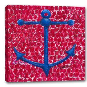 "SALE! Blue Anchor Canvas, 20 x 20"""