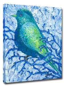 "Bluebird on Canvas, 16 x 20"" - Gerri Hyman Art"