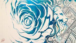 Blue Rose Lion
