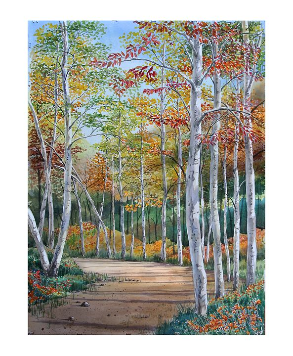 Dirt road in the Fall - Byron Chaney's Illustration and Design