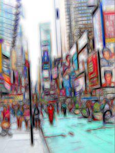 NYC Times Square William Kaluta Art
