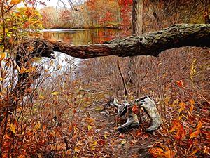 "Artwork Title""Lost Waders ByThe Lake"