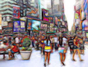 """Artwork Titled """"Surfing The Square"""""""
