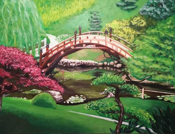 Japanese Garden - J. Robin E Art