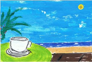 Coffe and sea