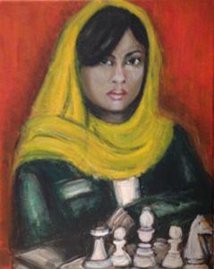Femme aux échecs