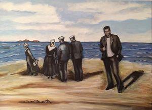 Bretons sur la plage