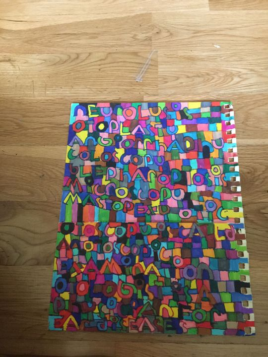 Square words - Shapes of color