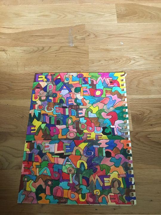 Folder shapes words - Shapes of color