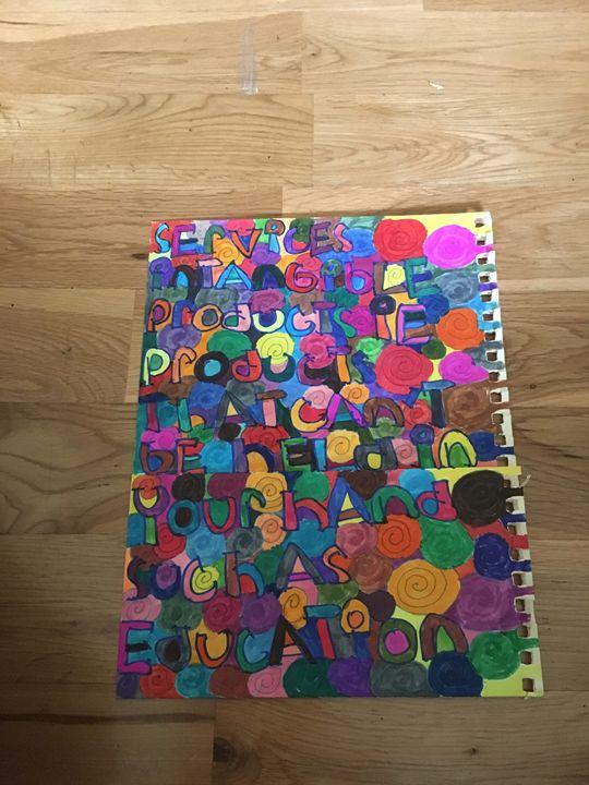 Spiral alphabet - Shapes of color