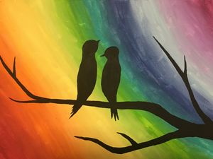 Rainbow Love Birds