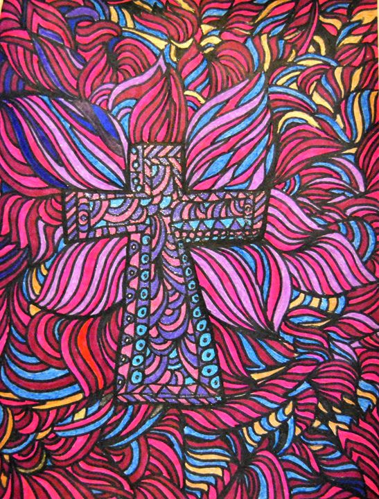 Colorful Crucifix - Mistyck Moon Creations Gallery