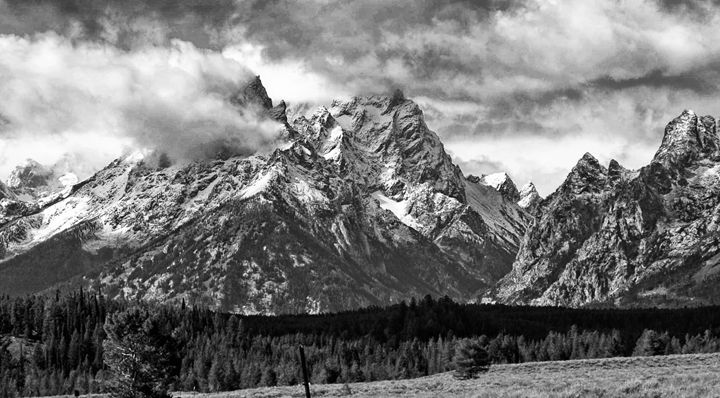 The Grand Tetons in B&W - Mistyck Moon Creations Gallery