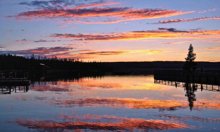 Sunset Over Yellowstone Lake - Mistyck Moon Creations Gallery