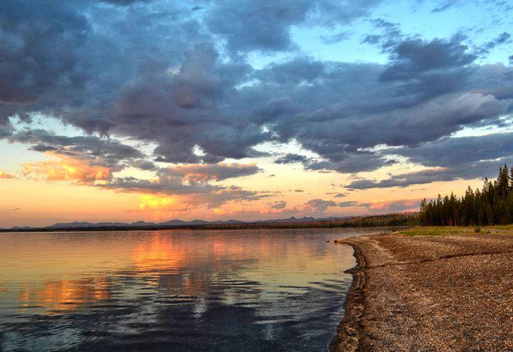 Sunset Over Yellowstone Lake - Mistyck Moon Creations Gallery