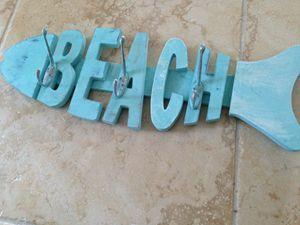 turquoise 3 hook beach rack