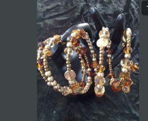 beaded autumn bracelet or arm band
