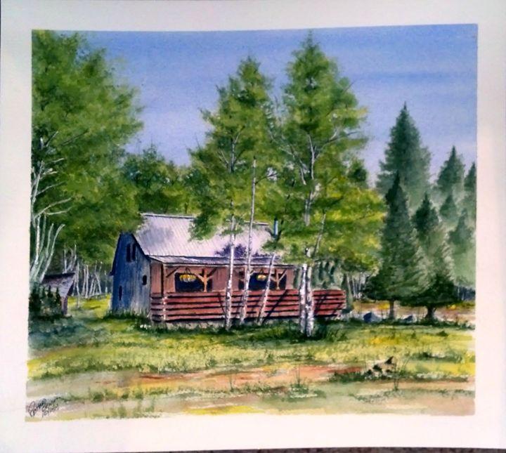 Colorado Mountain Cabin SOLD - Richard Benson's Watercolors