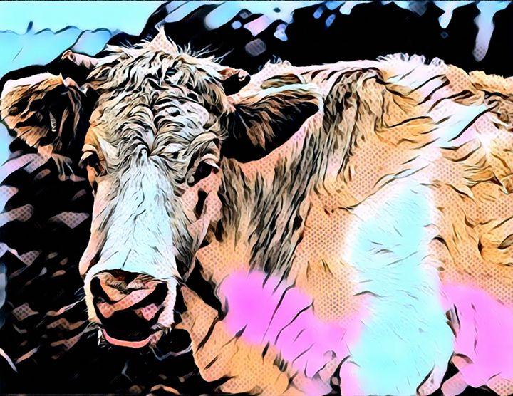 Mooo - Cow Modern Pop Art - Rogue Art