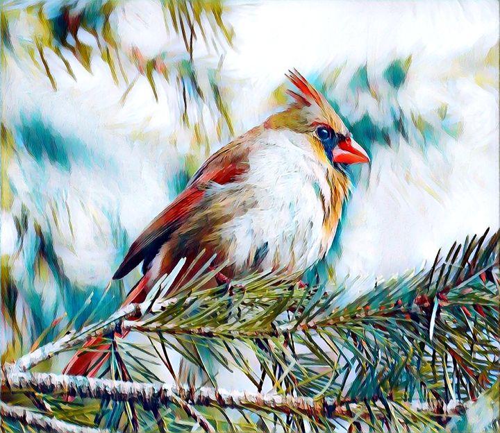 Red Cardinal - Rogue Art