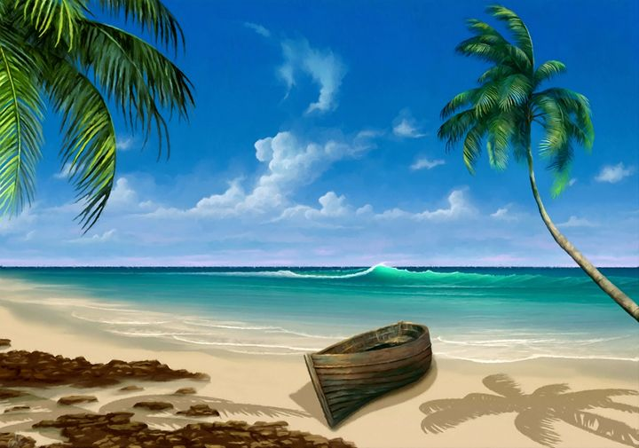 Tropical Paradise Seascape - Rogue Art