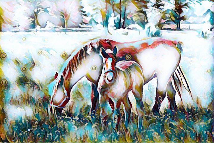 Family - Horse Wildlife Print - Rogue Art