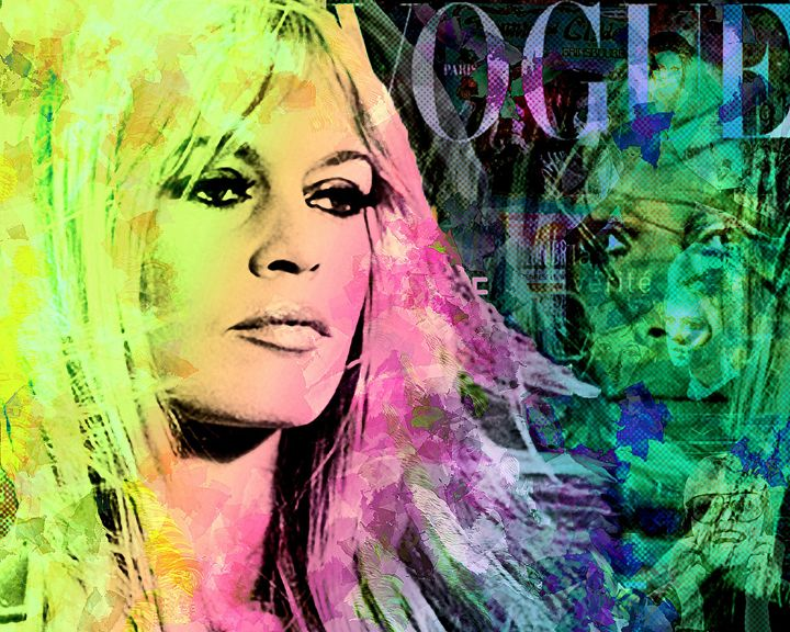 Brigitte Bardot vintage - Looney art
