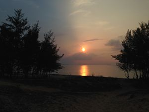 Sunrise at Hon Rom in Vietnam