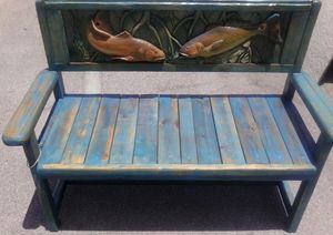 Rustic Redfish Bench