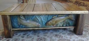 Rustic redfish coffee table