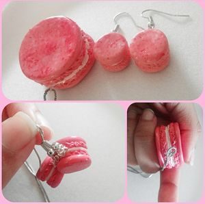 Macaron Earrings and Nacklace Set