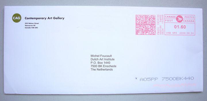 Michel Foucault | CAG Vancouver - Bauhaus Press Shop